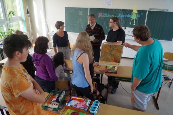 Landkarte aus dem Schulunterricht der DDR - in der BRD waren weder Orte noch Strassen eingezeichnet